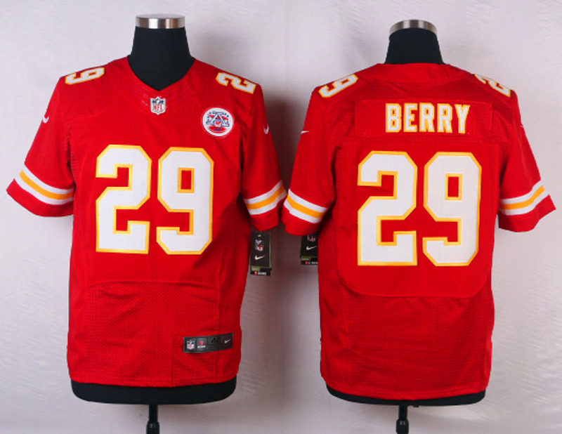 NFL Customize Kansas City Chiefs 29 Berry Red Men Nike Elite Jerseys