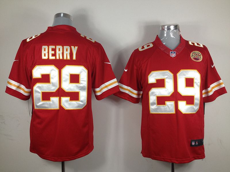 Kansas City Chiefs 29 Berry Red Nike Game Jersey