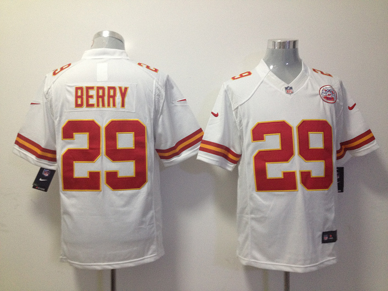 Kansas City Chiefs 29 Berry White Nike Game Jersey