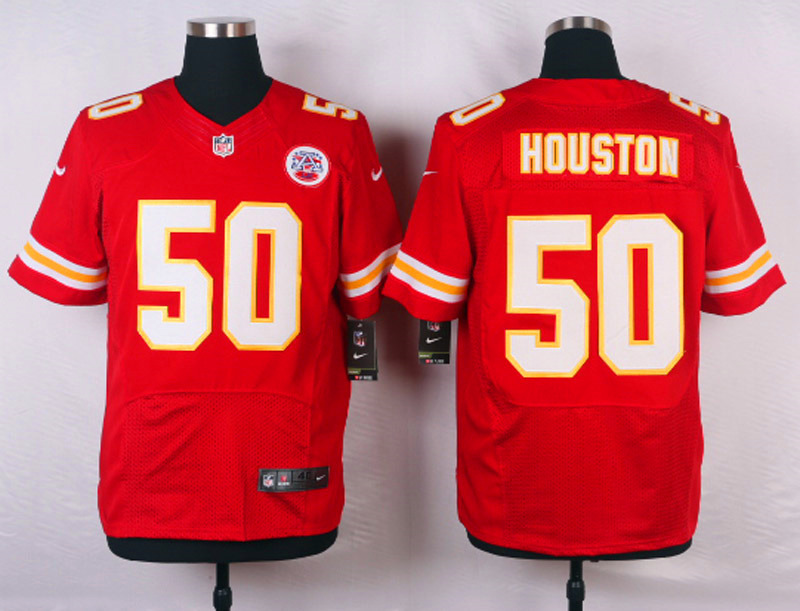 NFL Customize Kansas City Chiefs 50 Houston Red Men Nike Elite Jerseys