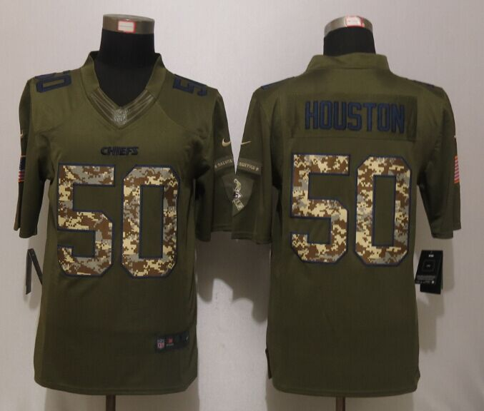 Kansas City Chiefs 50 Houston Salute To Service New Nike Limited Jersey