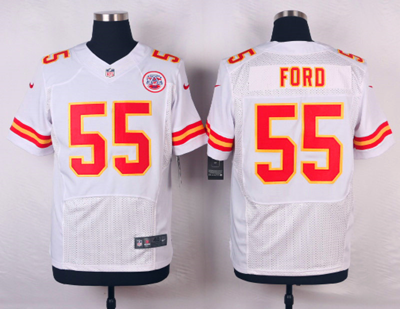 NFL Customize Kansas City Chiefs 55 Ford White 2015 New Nike Elite Jerseys