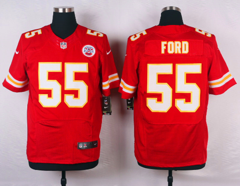 NFL Customize Kansas City Chiefs 55 Ford red 2015 New Nike Elite Jerseys