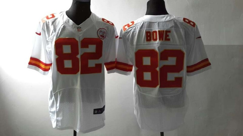 Kansas City Chiefs 82 Bowe White Nike Elite Jersey