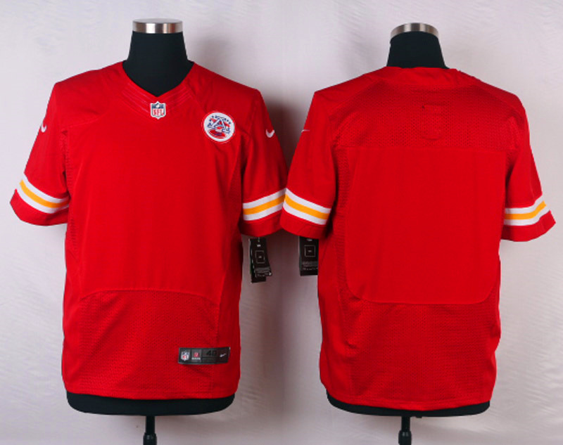 NFL Customize Kansas City Chiefs Blank Red Men Nike Elite Jerseys