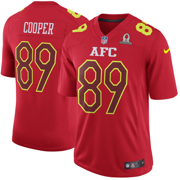 Men AFC Oakland Raiders 89 Amari Cooper Nike Red 2017 Pro Bowl Game Jersey
