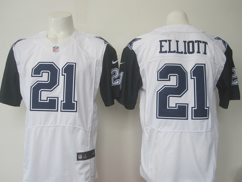 Men Dallas Cowboys 21 Elliott Nike white 2016 Draft Pick Elite Jersey 2