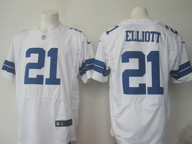 Men Dallas Cowboys 21 Elliott Nike white 2016 Draft Pick Elite Jersey