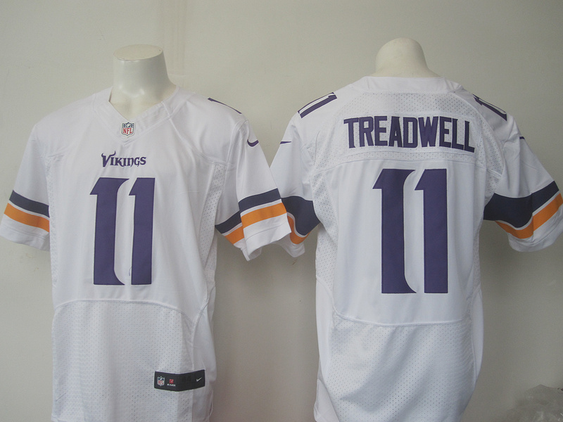 Men Minnesota Vikings 11 Treadwell Nike white 2016 Draft Pick Elite Jersey