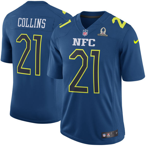 Men NFC New York Giants 21 Landon Collins Nike Navy 2017 Pro Bowl Game Jersey