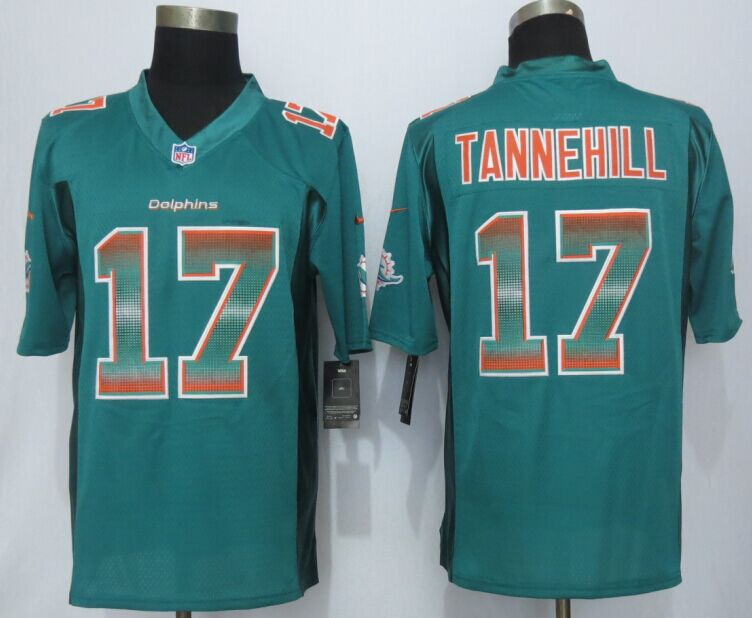 Miami Dolphins 17 Tannehill Green Strobe 2015 New Nike Limited Jersey