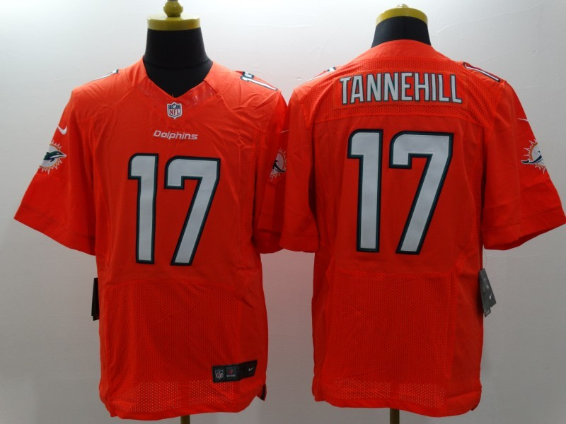 Miami Dolphins 17 Tannehill Orange Nike Elite Jerseys