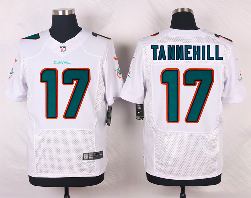 NFL Customize Miami Dolphins 17 Tannehill White Nike 2015 Elite Jerseys