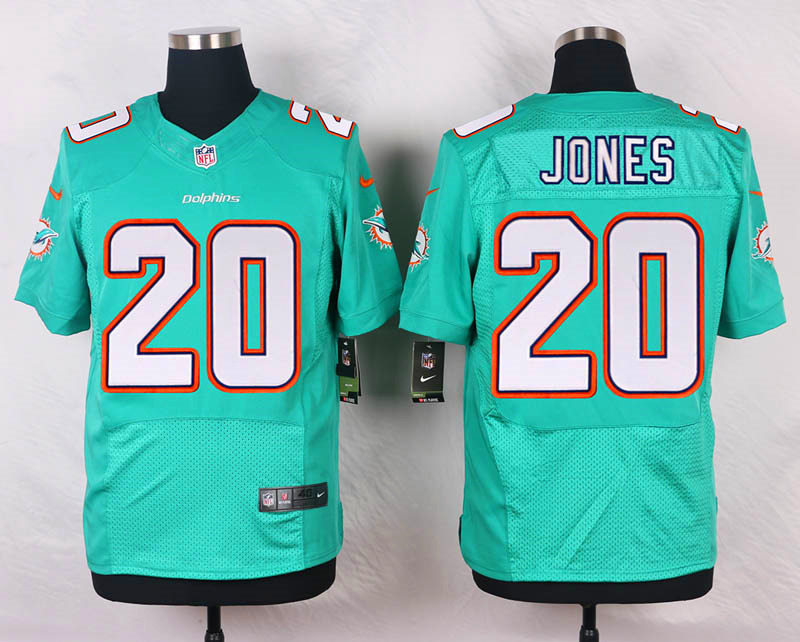 NFL Customize Miami Dolphins 20 Jones Green Men Nike Elite Jerseys