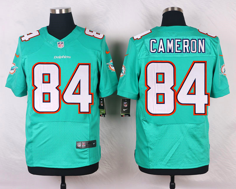 NFL Customize Miami Dolphins 84 Cameron Green Men Nike Elite Jerseys