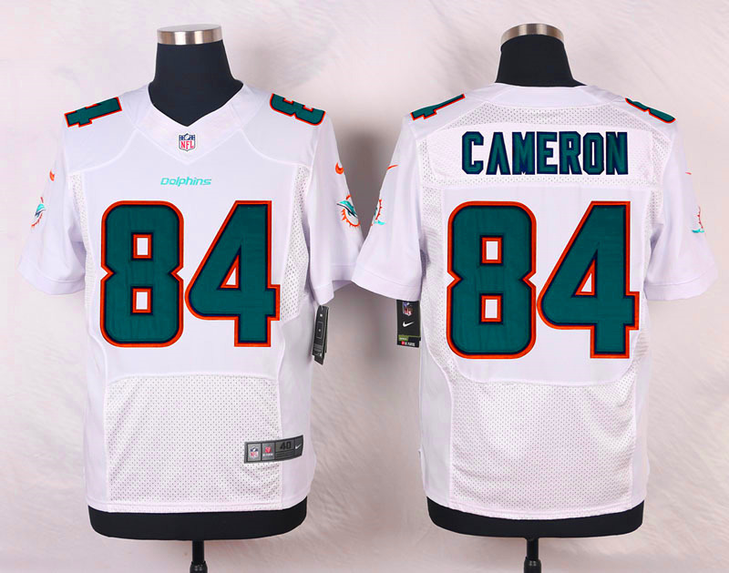 NFL Customize Miami Dolphins 84 Cameron White Men Nike Elite Jerseys