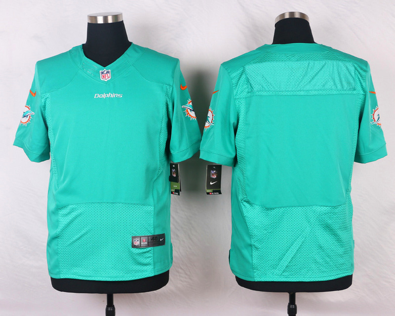 NFL Customize Miami Dolphins Blank Green Men Nike Elite Jerseys