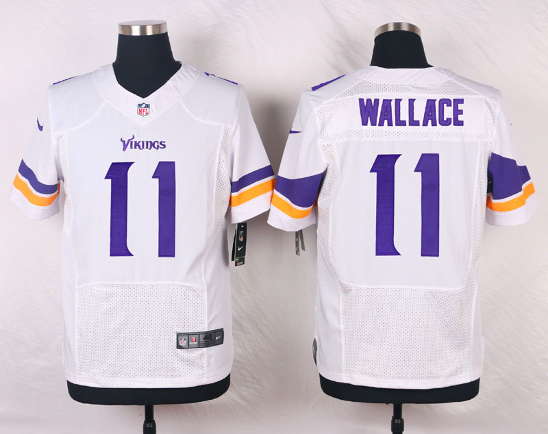 NFL Customize Minnesota Vikings 11 Wallace White Men Nike Elite Jerseys