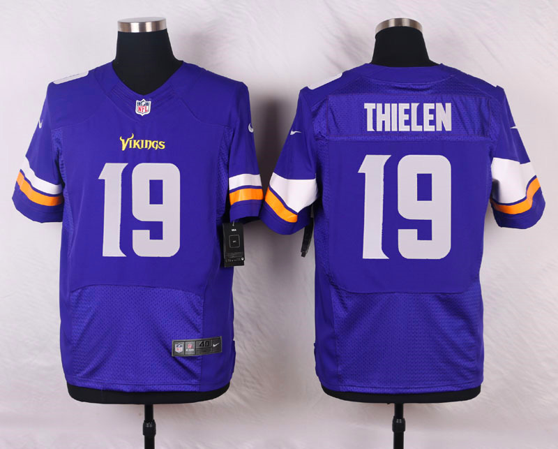 NFL Customize Minnesota Vikings 19 Thielen Purple Men Nike Elite Jerseys