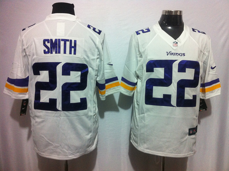 Minnesota Vikings 22 Smith White 2015 Nike Game Jerseys