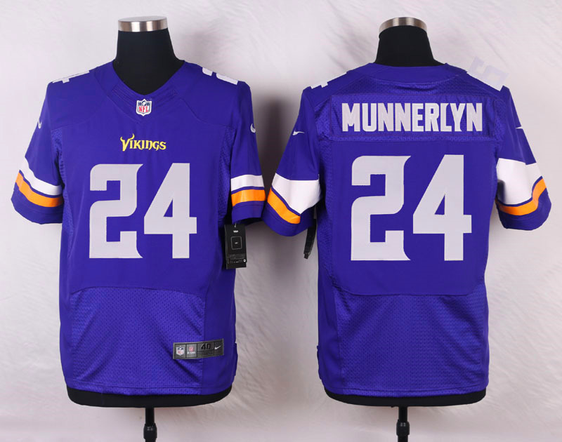 NFL Customize Minnesota Vikings 24 Munnerlyn Purple Men Nike Elite Jerseys