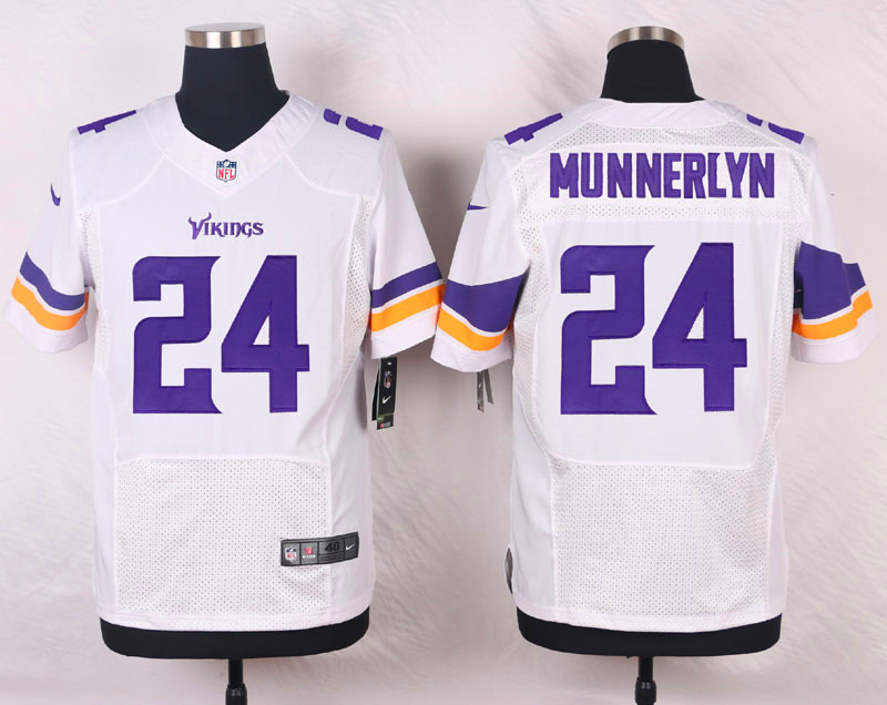 NFL Customize Minnesota Vikings 24 Munnerlyn White Men Nike Elite Jerseys