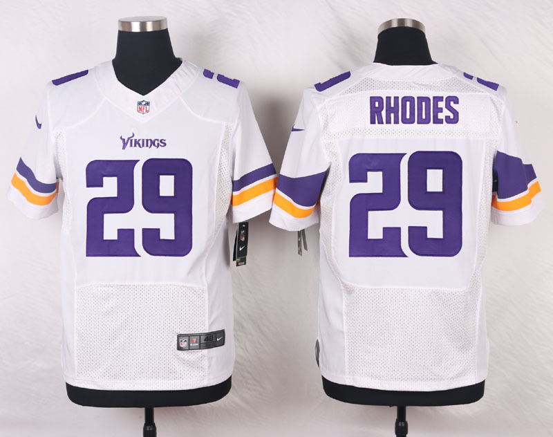 NFL Customize Minnesota Vikings 29 Rhodes White Men Nike Elite Jerseys