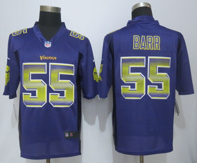 Minnesota Vikings 55 Barr Pro Line Purple Fashion Strobe 2015 New Nike Jersey