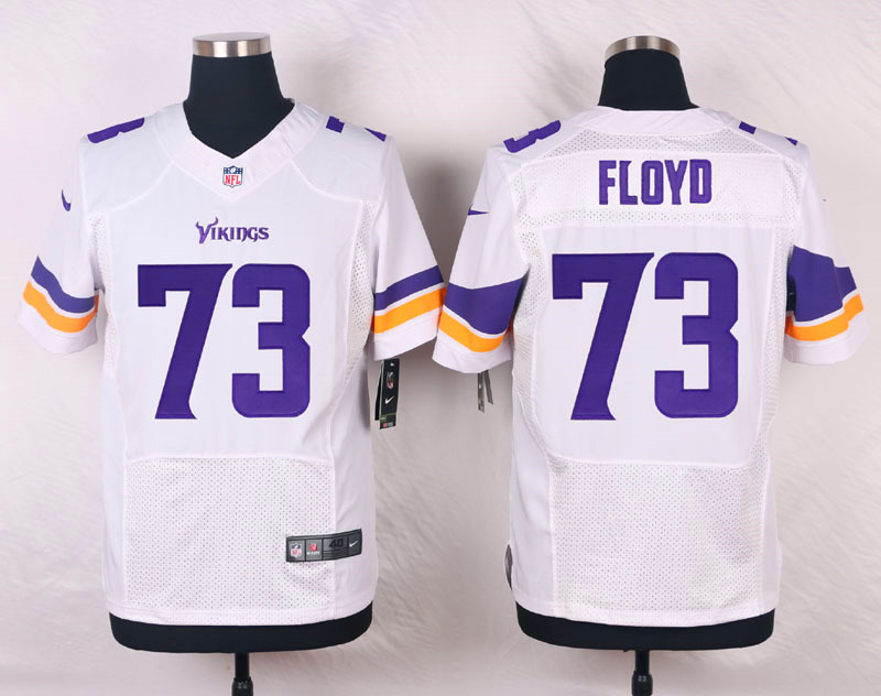 NFL Customize Minnesota Vikings 73 Floyd White Men Nike Elite Jerseys