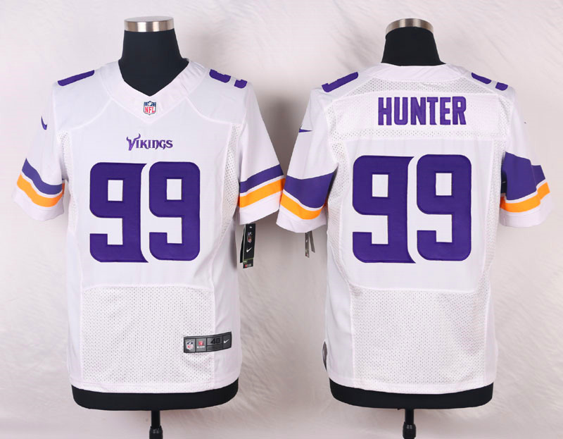 NFL Customize Minnesota Vikings 99 Hunter White Men Nike Elite Jerseys