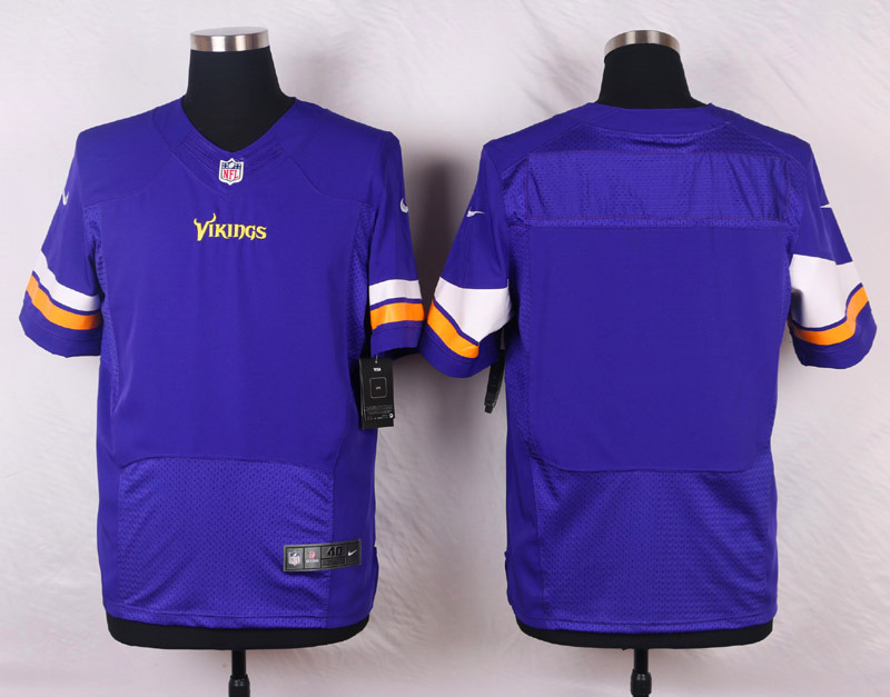NFL Customize Minnesota Vikings Blank Purple Men Nike Elite Jerseys