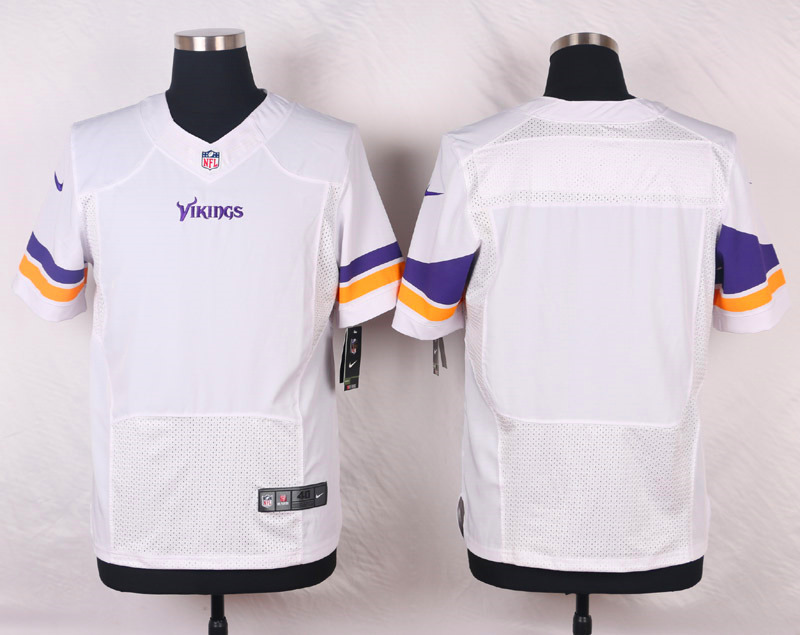 NFL Customize Minnesota Vikings Blank White Men Nike Elite Jerseys