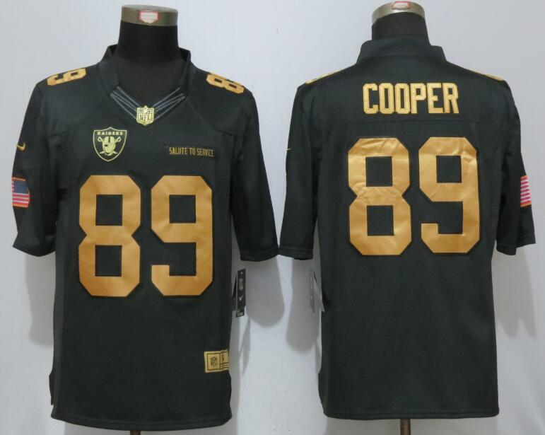 NEW Nike Dallas Raiders 89 Cooper Gold Anthracite Salute To Service Limited Jersey