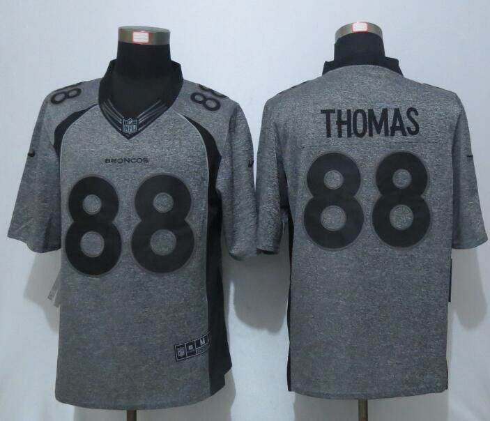 NEW Nike Denver Broncos 88 Thomas Gray Men's Stitched Gridiron Gray Limited Jersey