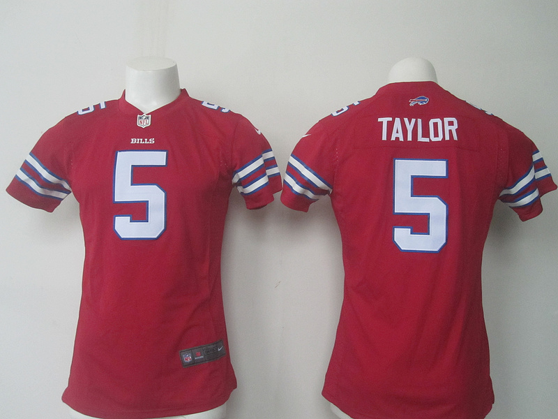 NFL Buffalo Bills 5 Taylor red Nike kids 2016 jerseys.