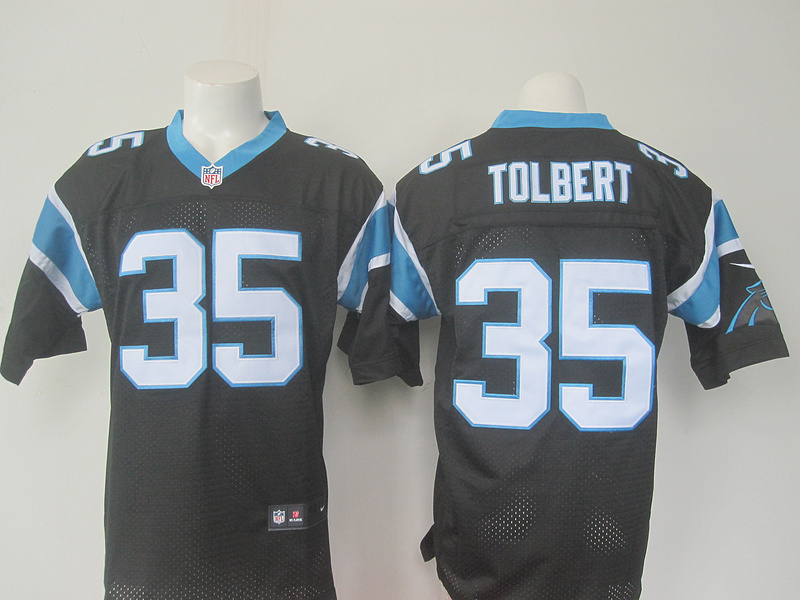 NFL Carolina Panthers 35 Tolbert Black 2016 Nike Elite Jerseys