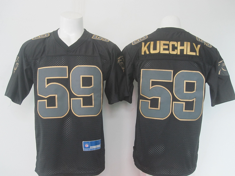 NFL Carolina Panthers 59 kuechly Black golden Elite nike 2016 jerseys