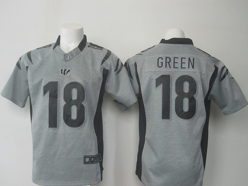 NFL Cincinnati Bengals 18 Green Grey Nike 2016 jerseys