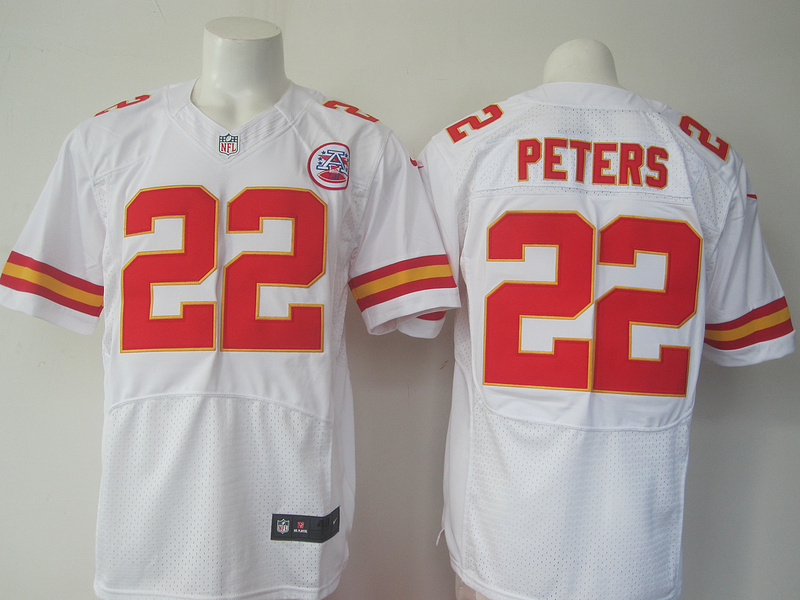 NFL Kansas City Chiefs 22 Peters White Nike elite 2016 jerseys
