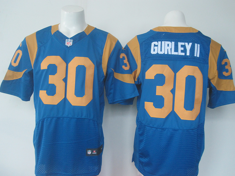 NFL St. Louis Rams 30 Gurley Blue elite Nike 2016 jerseys