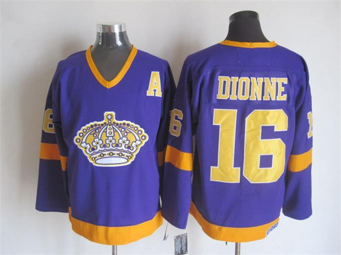 NHL Los Angeles Kings 16 Marcel Dionne Purple CCM Vintage Throwback