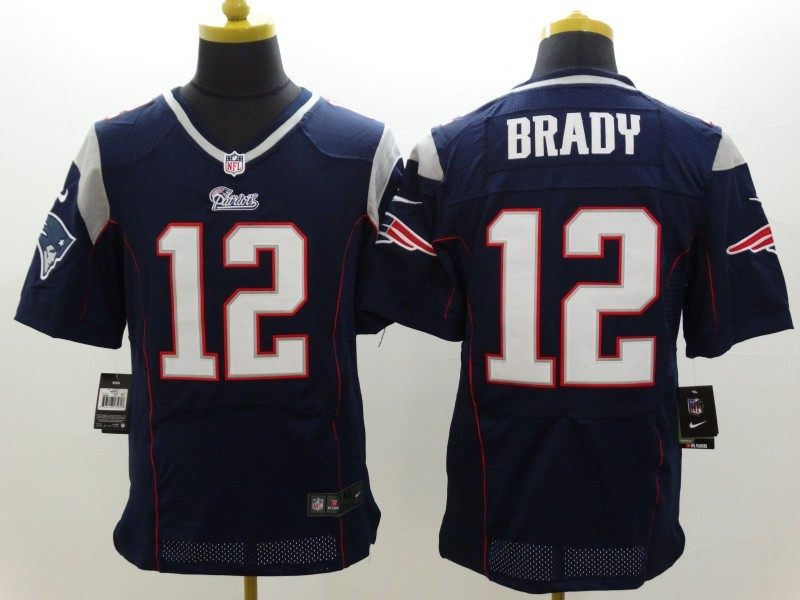 New England Patriots 12 Brady Blue Nike Elite Jerseys