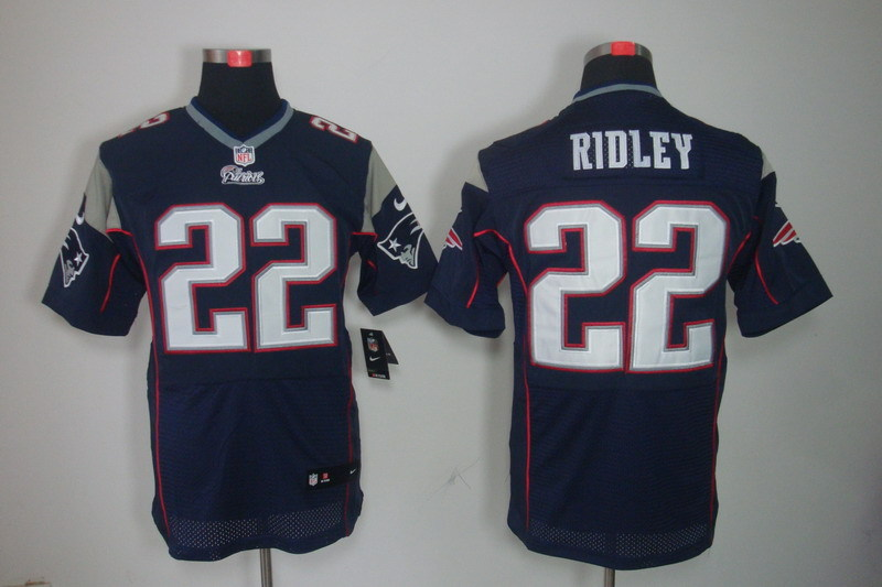 New England Patriots 22 Ridley Blue Nike Elite Jerseys