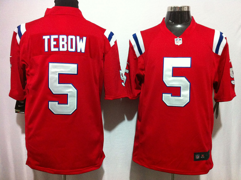 New England Patriots 5 Tebow Red Nike Game Jersey