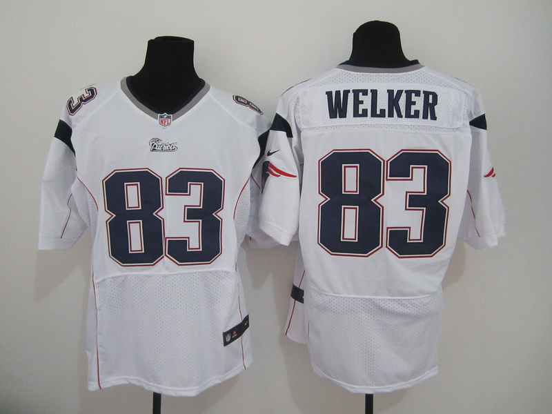 New England Patriots 83 Welker White Nike Elite Jersey