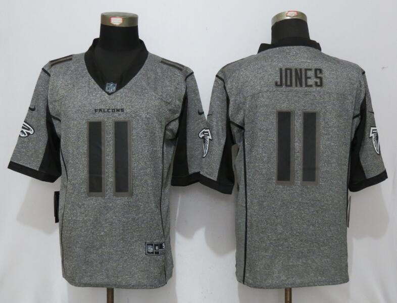 New Nike Atlanta Falcons 11 Jones Gray Men Stitched Gridiron Gray Limited Jersey