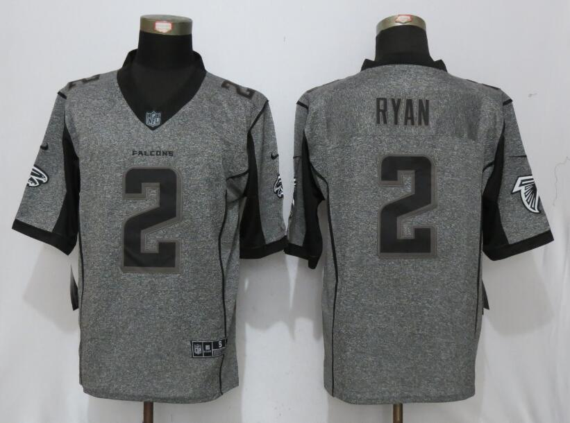 New Nike Atlanta Falcons 2 Ryan Gray Men Stitched Gridiron Gray Limited Jersey