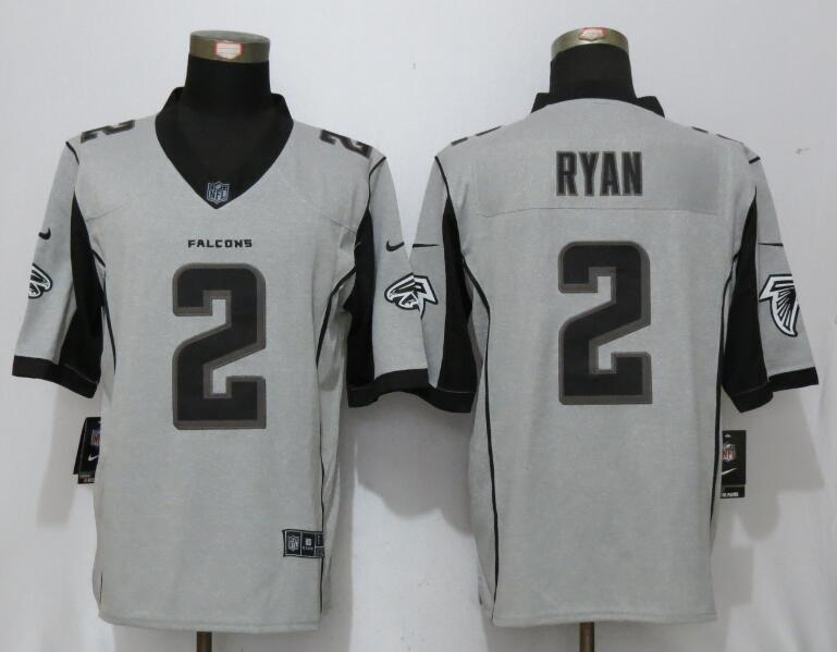 New Nike Atlanta Falcons 2 Ryan Nike Gridiron Gray II Limited Jersey