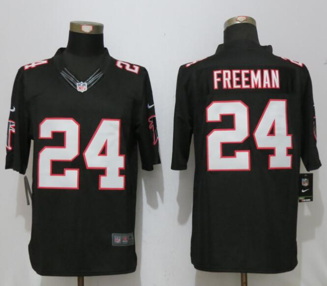 New Nike Atlanta Falcons 24 Freeman Black Limited Jersey