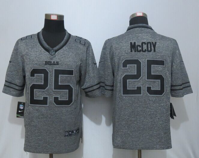 New Nike Buffalo Bills 25 McCoy Gray Men's Stitched Gridiron Gray Limited Jersey